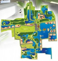 Gassan Lake City Golf Club and Resort - Layout