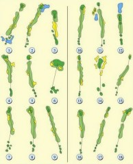 Pulai Springs Country Club, Melana Course - Layout