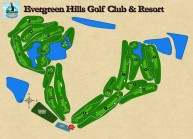 Evergreen Hills Golf Club & Resort - Layout
