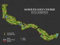 Kota Seriemas Golf and Country Club - Layout